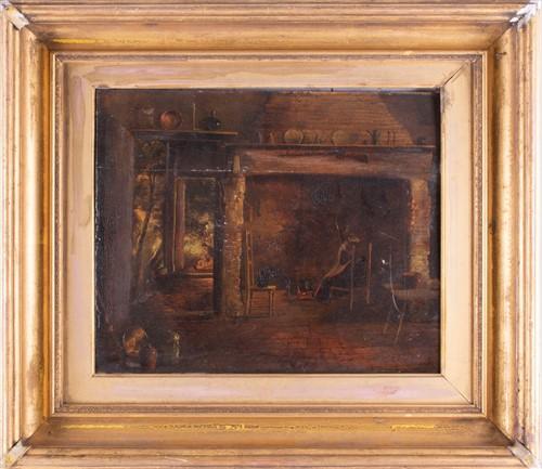 Lot 26-Dutch School, 19th century depicting a rural lady ...