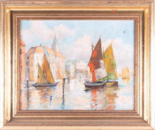 Lot 43-Jules Monnickendam (1874-1943) Dutch depicting a...