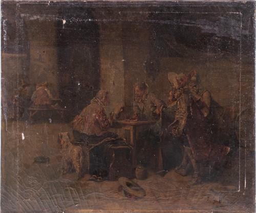 Lot 44-Luigi Georgeo Baldero (XIX-XX) Italian depicting...