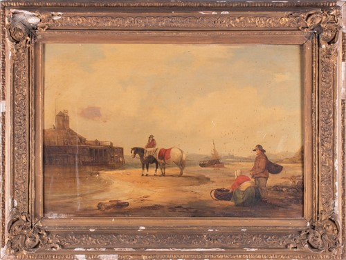 Lot 45-English school, 19th century depicting fishermen...
