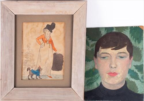 Lot 40-English school, 20th century depicting a portrait ...