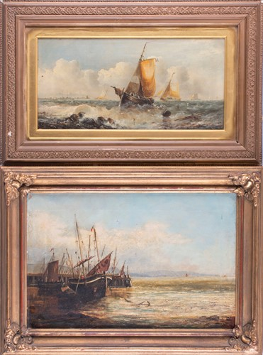 Lot 48-George Knight (act.1872-1892) British depicting...