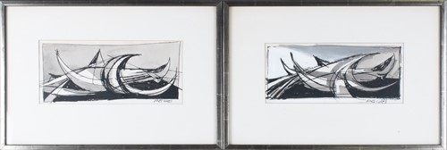 Lot 15-Arnold Mesches (1923-2016) American a pair of...