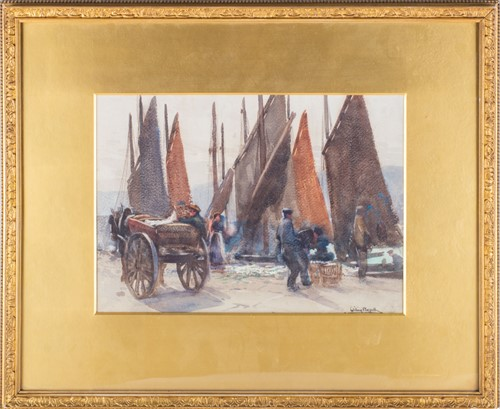 Lot 28-William Hoggatt (1880-1961) British depicting...