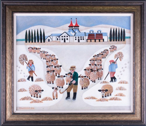 Lot 19-Alfred Daniels RBA RWS (1924-2015) British 'Sheep ...