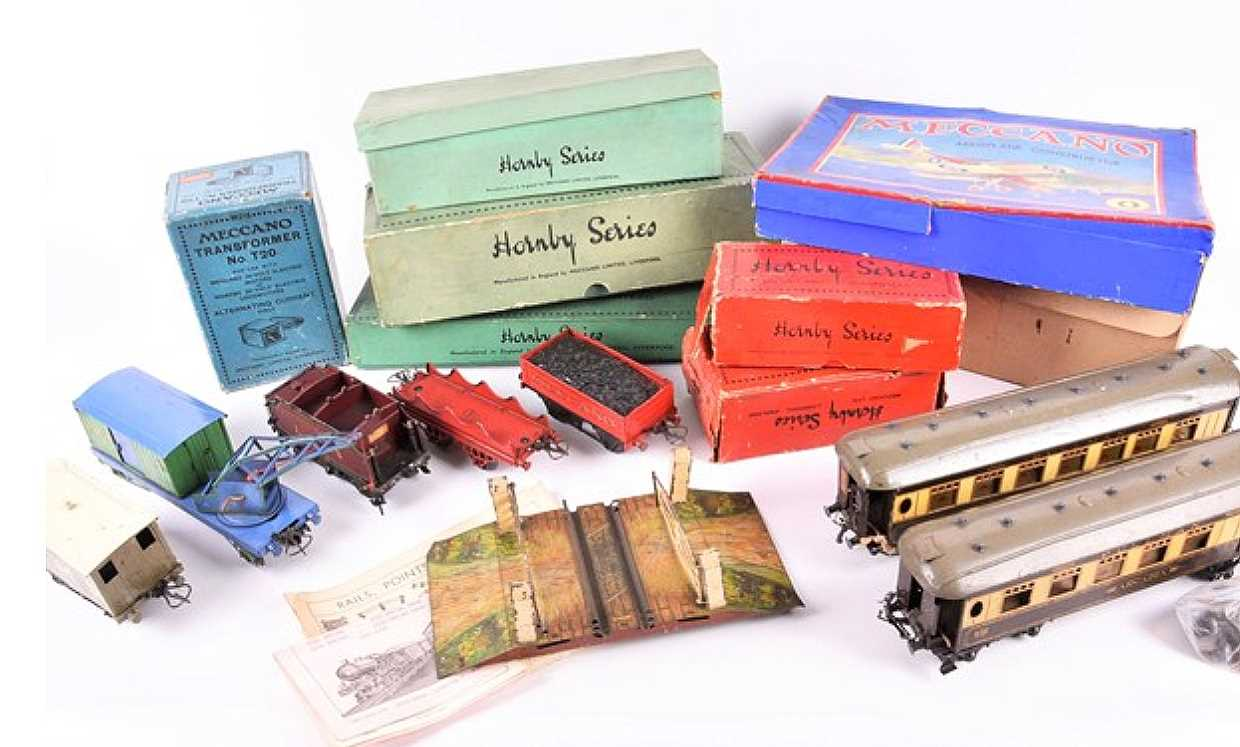 Lot 695-A collection of assorted trains, track and...