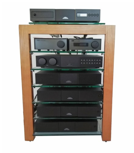 Lot 573-A Naim stereo audio system with pair of matching...