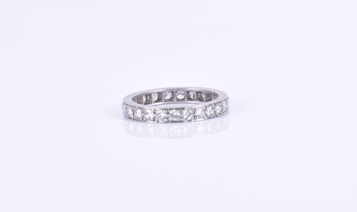 Lot 134-A diamond eternity ring set with 23 round...