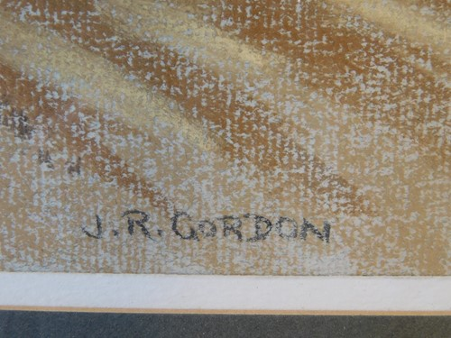 Lot 34-J.R.Gordon (British, 20th Century). A rural...
