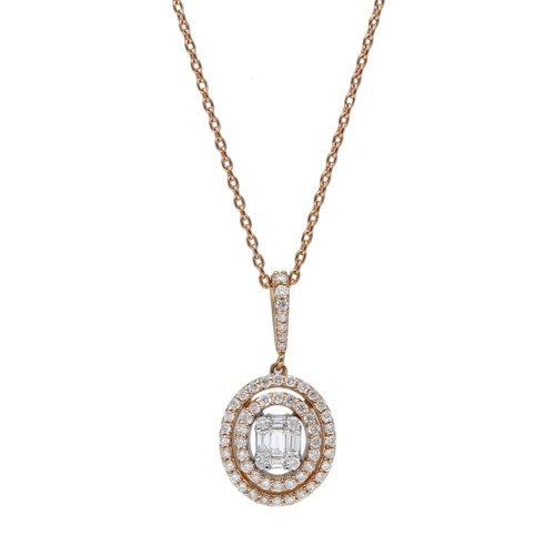 Lot 41A-385Frost of London. An 18ct rose gold and diamond ...
