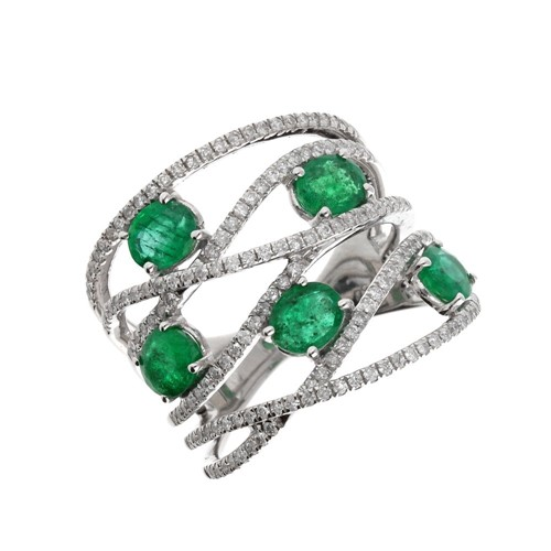 Lot 107A-Frost of London. An 18ct white gold, emerald...