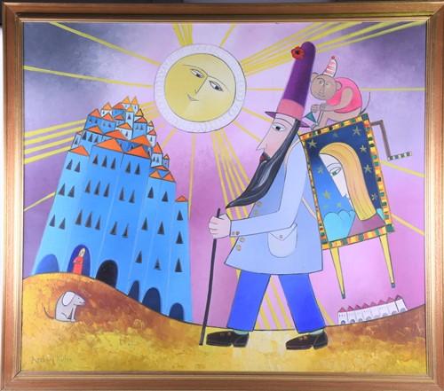 Lot 3-Andrzeji Kuhn (1930 - 2014), 'The Organ Grinder', ...