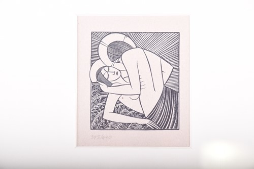 Lot 55-After Eric Gill, (1882 - 1940), 'Stay me with...