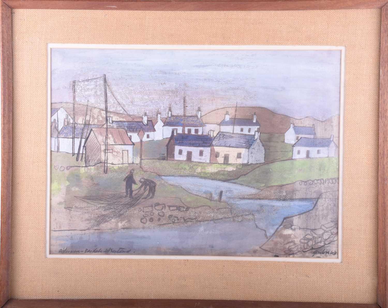 Lot 6-Gordon, (20th century), 'Fisherman - Easdale,...