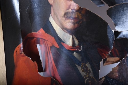 Lot 10-Robert J Abraham (19/20th century), portrait of a ...
