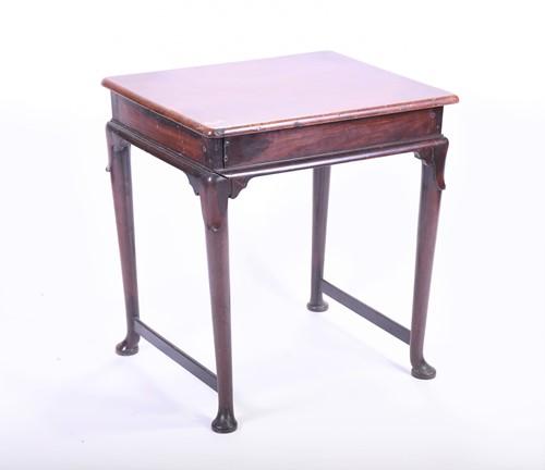 Lot 61-A George III mahogany side table the plain top...