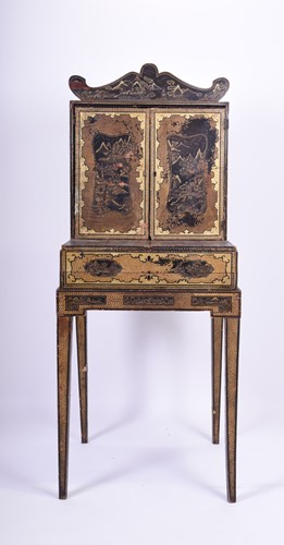 Lot 88-A 19th century Chinese Canton lacquered...