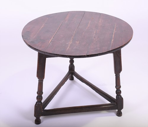 Lot 86-An 18th century oak cricket table of typical form ...
