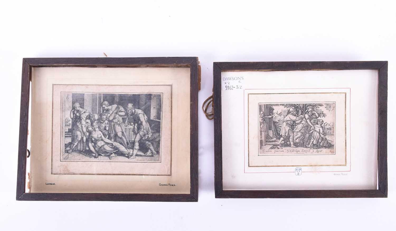 Lot 47-George Pencz ( 1500 - 1550), 'Abraham & Agar' &...