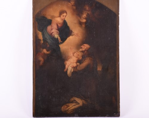 Lot 23-18th century Continental School, St Anthony...