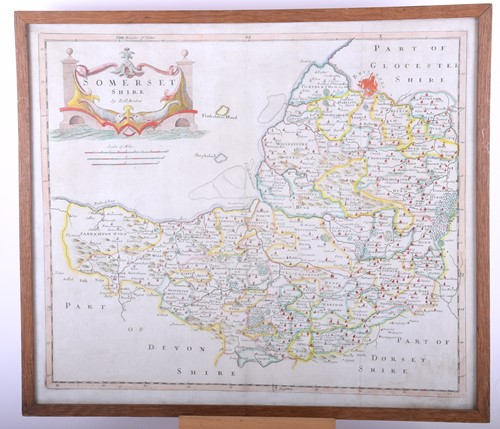 Lot 42-Robert Morden 'Somersetshire', late 17th century, ...