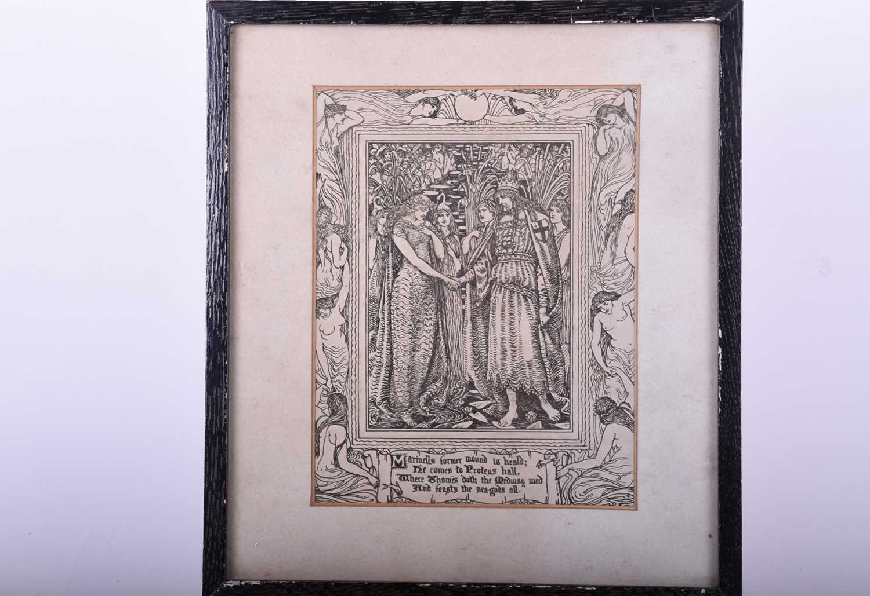 Lot 40-After Walter Crane, an art nouveau period print...