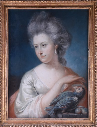 Lot 2-John Russell (1745 - 1806), portrait of a lady...