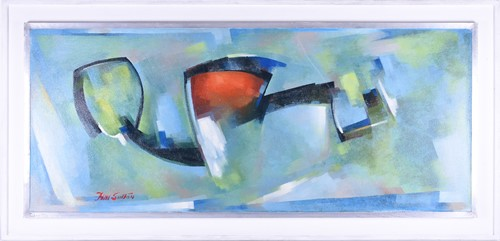 Lot 69-H Sutton (20th century, contemporary) Abstract,...