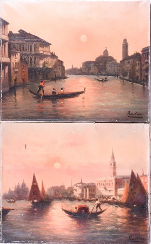 Lot 11-Rodier (French, 19th century), The Grand Canal,...