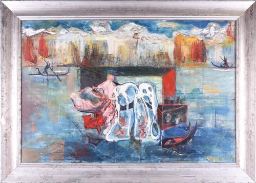 Lot 26-Vilmo Gibello, (1916 - 2013) Italian, abstract...