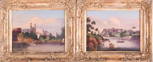 Lot 72-19th century English School Two gilt framed...