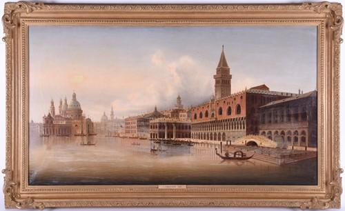 Lot 3-L. Zubezlicky (19th century) A Venetian scene...
