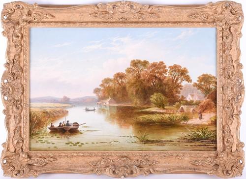 Lot 44-19th century English School a peaceful river...