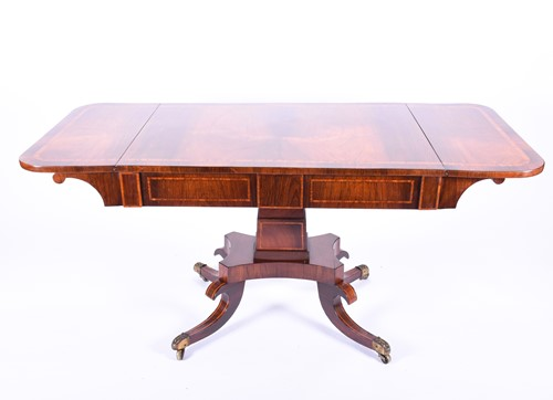 Lot 76 - A good quality Regency Rosewood sofa table,...