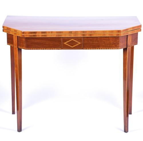 Lot 93 - A 19th century mahogany tea table, the...