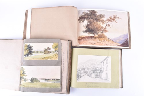 Lot 46-Three early to mid-19th century albums...