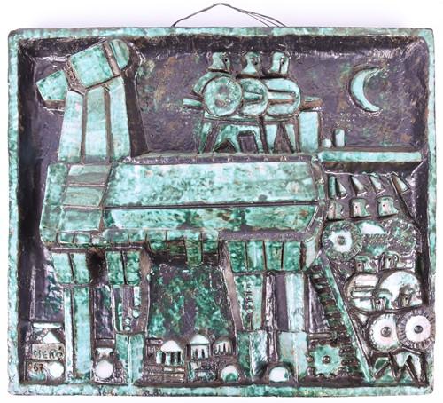 Lot 55 - 'Cseko'?, a modernist earthenware abstract...