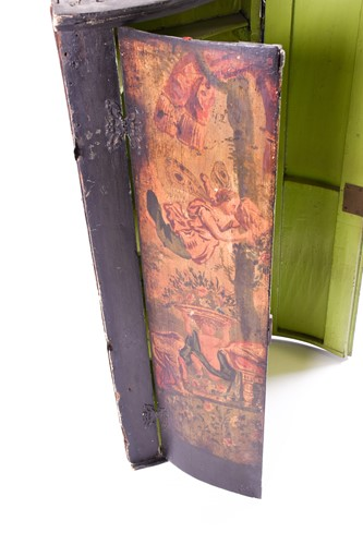 Lot 71 - A 19th century Continental painted corner...