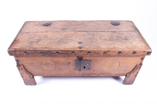 Lot 72 - A 19th century Zanzibar type seamans chest,...