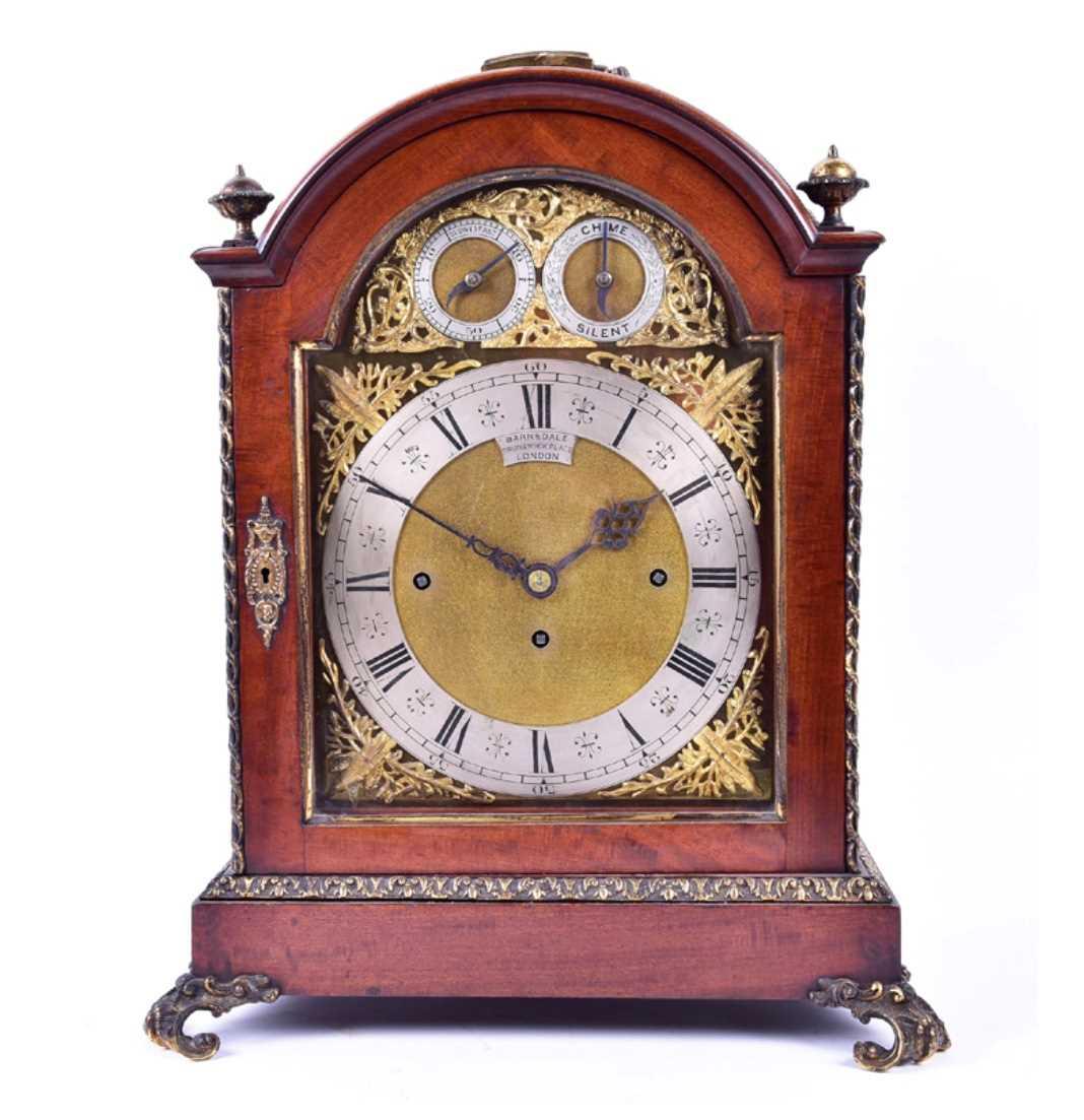 Lot 511-A late 19th century mahogany cased bracket...