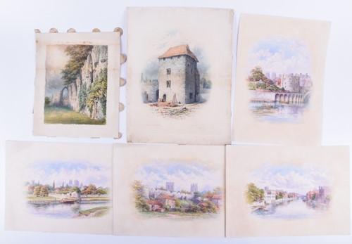 Lot 19 - George Fall (British, 1848 - 1925), six views...