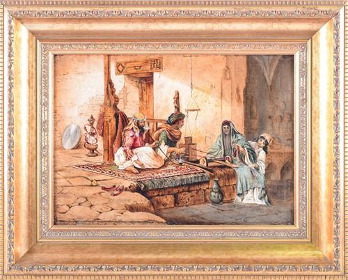 Lot 37 - 19th Century Orientalist school, 'An Arabian...