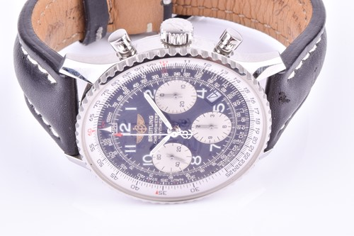Lot 395-A Breitling Navitimer stainless steel...