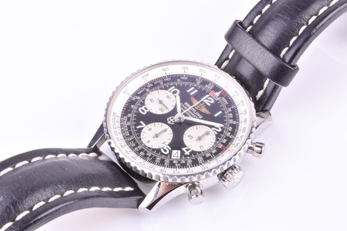 Lot 395 - A Breitling Navitimer stainless steel...