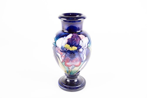 Lot 40-A Moorcroft Orchid pattern vase, mid 20th...