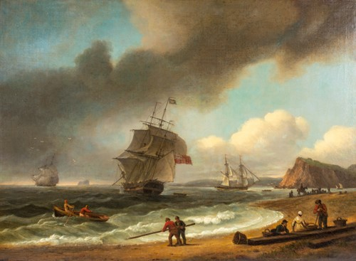 Lot 90-Thomas Luny (1759-1837) English, 'The Ness at...