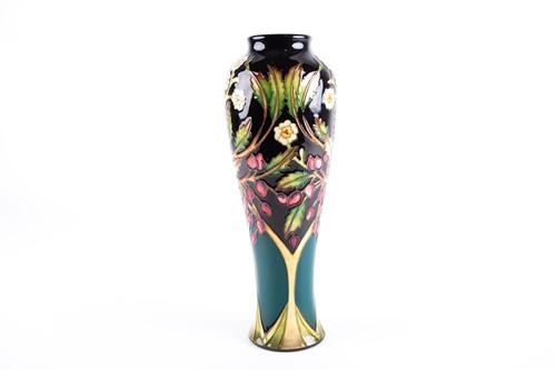 Lot 4-A Moorcroft Flower & Berry pattern vase...