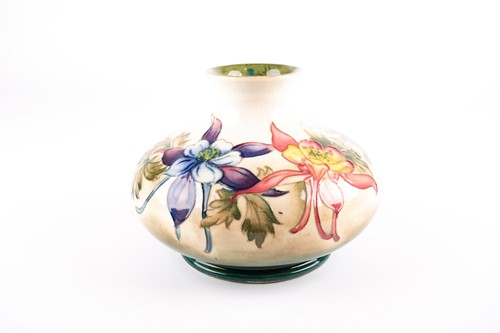 Lot 16-A Walter Moorcroft 'Columbine' pattern vase,...