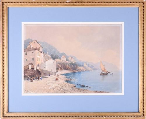 Lot 56 - W Van der Velde? (19th century) 'Bogliasco',...