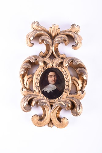 Lot 41-A 17th century oval portrait miniature of a...
